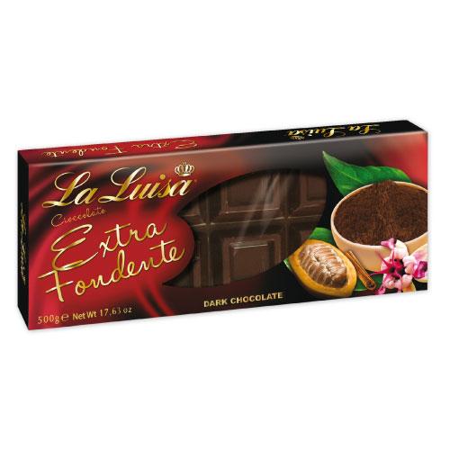 Cioccolato Extra Fondente 500 g astucciato - La Luisa afd1cd74ead0